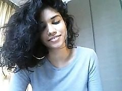 super-cute teenager on web cam