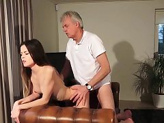 Old and Youthful Porn - Babysitter pussy fucked by old man