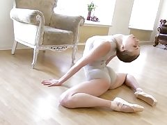 Gymnastic young shorthaired honey shows abilities