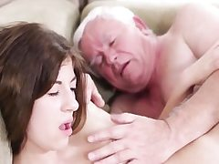 Hardcore old young sex with dirty grandpa