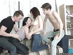 Double orgy after a dual rendezvous