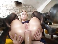 Enticing blondie gets assfucked by plumber