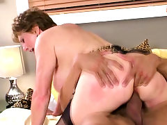 Lusty Grandma Smashed by a Stud