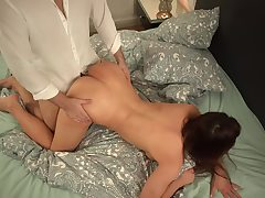 My super-hot super-naughty wife enjoy jerking and eyeing porn movies